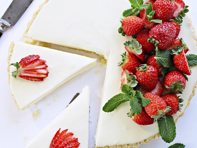 Krémový koláč z bílé čokolády a mascarpone
