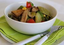 Opečené tofu na fazolkách