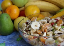 Ovocný salát s mákem