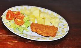 Patizonové řízečky s vařeným bramborem