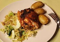 Plněná kuřecí prsa v pikantním koření