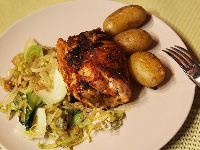 Plněná kuřecí prsa v pikantním koření, Plněná kuřecí prsa v pikantním koření