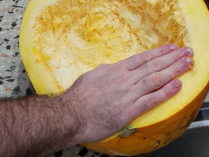 Dýňový kompot s ananasem, zavařený v myčce