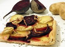 Koláč s řepou a brambory