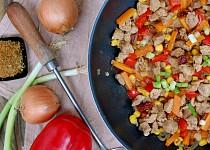 Adžikové ragú s vepřovým masem a zeleninou