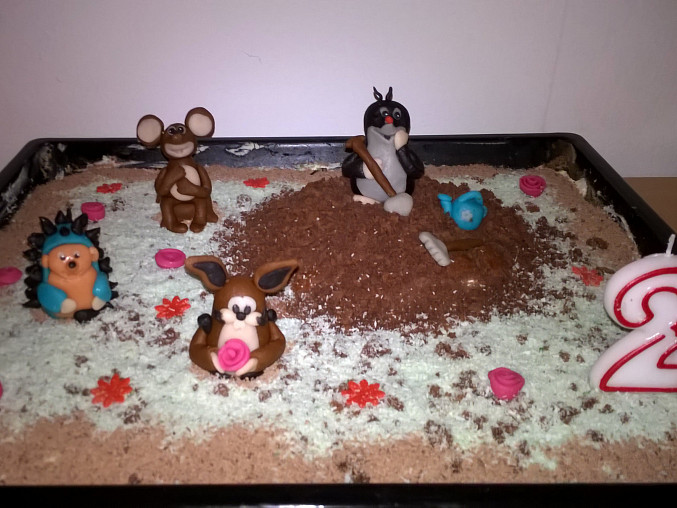 Krtkův dort k narozeninám