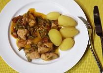 Kuře na pánvi se zeleninou