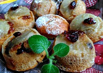 Obrácené hruškové muffiny