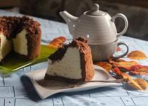 Tvarohový koláč s kakaovou drobenkou