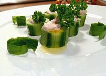 FIT šunková pěna v salátové okurce