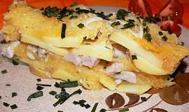 Prokládané brambory se špagetovou dýni