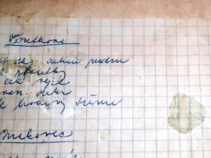 Bezlepkové žloutkové cukroví z formiček (z receptáře naší prababičky), Originál receptu