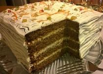 Bezlepkový mrkvový dortík s citronovým mascarpone