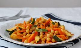Cizrna na kari se zeleninou