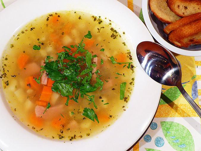 Falešná ovarová polévka s kroupami, Falešná ovarová polévka s kroupami