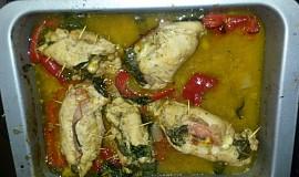 Plněné kuřecí závitky