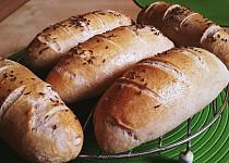 Pšeničné bagetky z kvásku