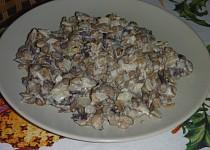 Salát z čočky a hub