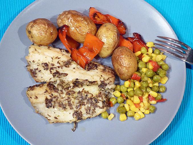 Aljašská treska pečená s bramborami, Aljašská treska pečená s bramborem