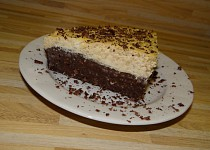 Zdravý dortík s tvarohovou vrstvou
