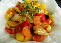 Máslová zelenina v papilotě