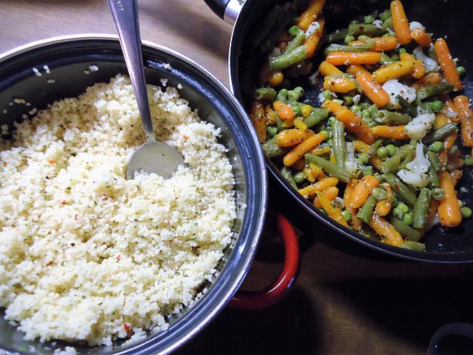 Nádivka ze zeleniny a kuskusu