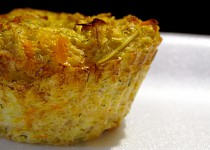 Zeleninové muffiny s ovesnými vločkami