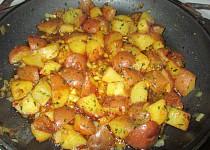 Americké brambory s petrželkou