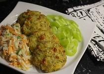 Pečené krůtí placičky s jáhlami a zeleninou bez vajec a lepku