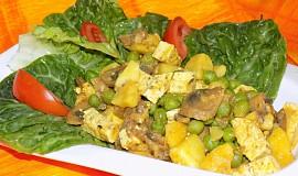 Tofu se žampiony a hráškem