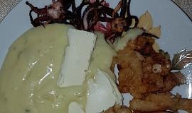Kalamáry v těstíčku + opečená chapadla