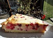 Rybízový krupicový koláč