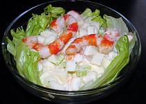 """""""Surimi"""" salát à la krevety a krabí tyčinky"""
