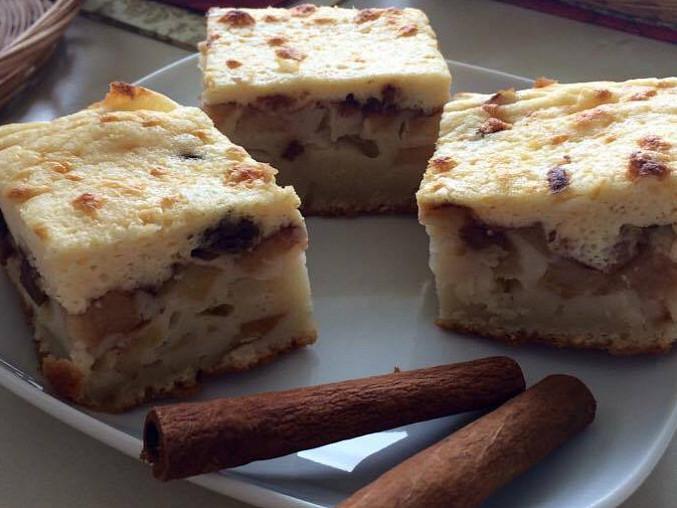 Tvarohový koláč s jablky II., tvarohový koláč s jablky