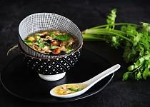 Vietnamská kuřecí (slepičí) polévka Súp Gà Nấm Hương