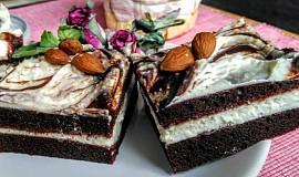 Kakaový dezert s tvarohem a nutelou