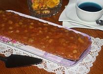 Ořechový koláč s rebarborou