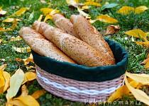 Pšeničné rohlíky se lněným semínkem
