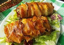 Roládky z mletého masa s libečkem, šunkou a sýrem