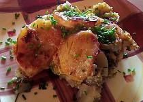 Zapečené brambory s brokolicí a pórkem