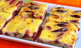 Švestkový koláč s pudinkem