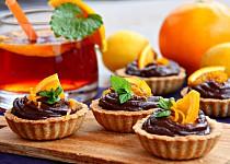 Tartaletky s čokoládovým orange curd krémem