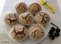 Kaštanovo-vanilkové muffiny se semínky bez lepku, mléka a vajec