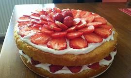 Lehký jahodový dort