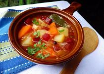 Zeleninová polévka na způsob boršče