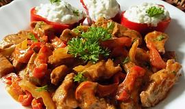 Chilli nudličky z krkovice s tzatziki