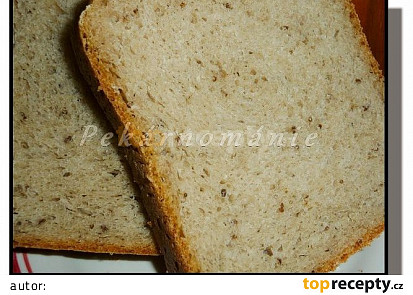 Pšenično-žitný chléb s vařeným bramborem a celozrnnou moukou
