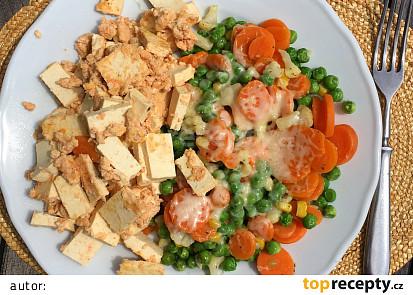 Tofu s vajíčkem a zeleninou pode Eduarda