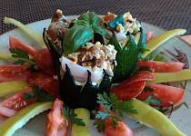Cuketové korunky plněné vejci a škvarky