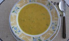 Polévka s mrkvičkou, červenou čočkou a celerem